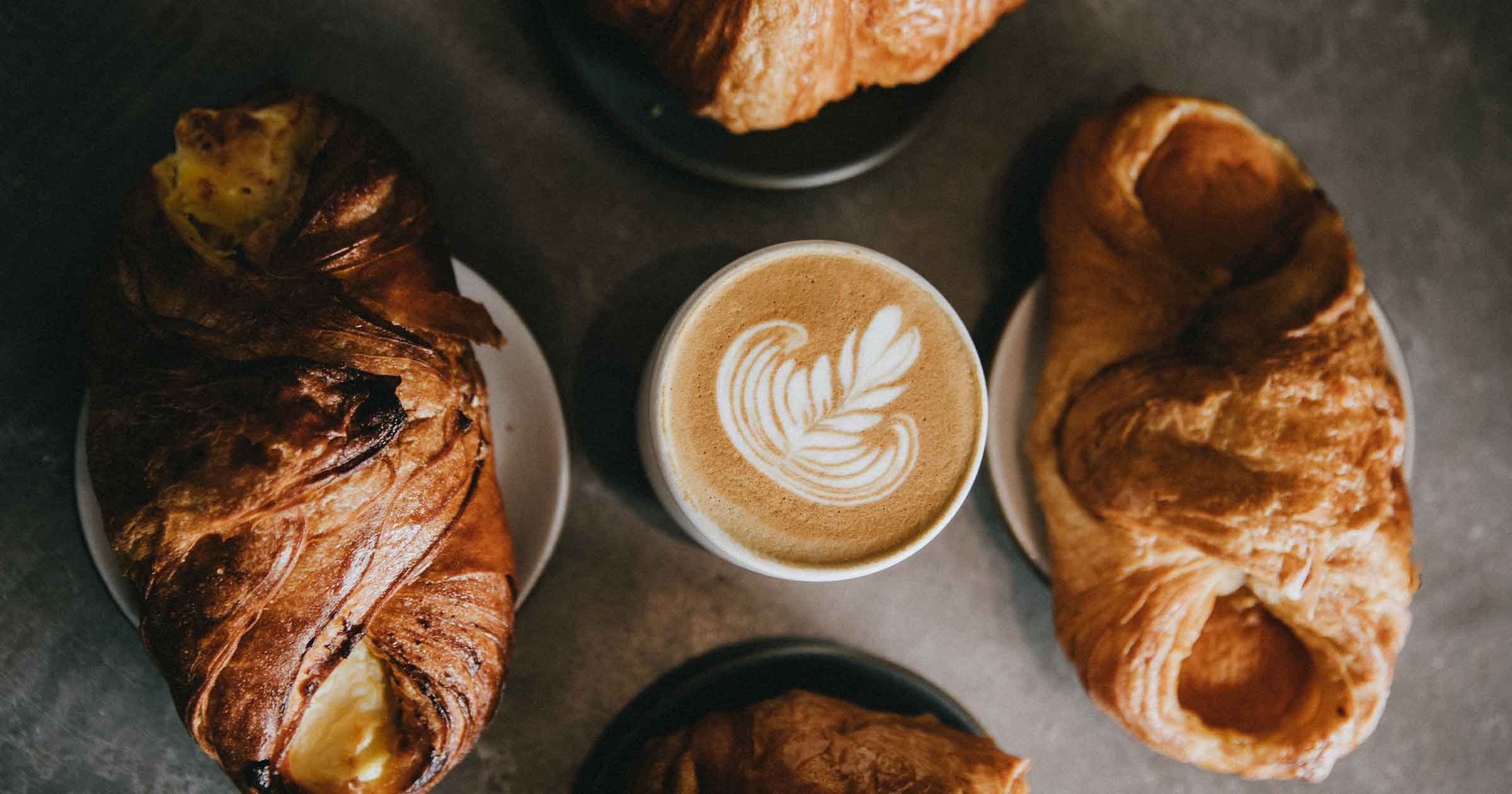 Homemade Croissant with Coffee